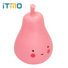 ITimo LED Pear Light Pink Night Light Eyes Protection Indoor Lighting Table Lamp Gift for Children Cute Home Decoration