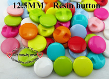 100PCS 12.5MM mixed Shank Dyed RESIN buttons coat boots sewing clothes accessories R-177