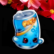 40pcs/Lot 36x27mm Cartoon Movie Soda Pops Planar Resin Cup Cake Toppers Party Flat Back Decoration Hair Bow Center