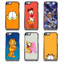 cute Garfield Cat Cover Case For Iphone 4 4s 5 5c 5s se 6 6s 7 8 plus x xiaomi redmi note oneplus 3 3T 4X 3s(China)
