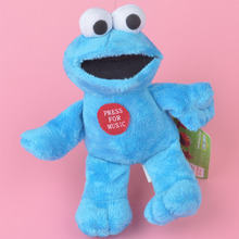 20cm Cookie Monster Plush Toy, The Sesame Baby Kids Doll with Free Shipping