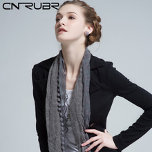 CNRUBR Style Laced Silk Rayon Microfiber Scarf Comfortable Shawl For Ladies Solid Ball Stylish Elegant Lace Rose Floral Scarves(China)