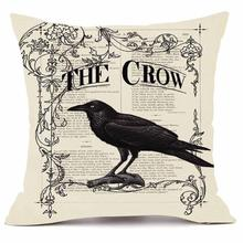 Happy Halloween Animal Pattern Pillowcase crow Pillow Cases Super Cashmere Decorative Pillows For Sofa Cushion Cover Home Decor(China)