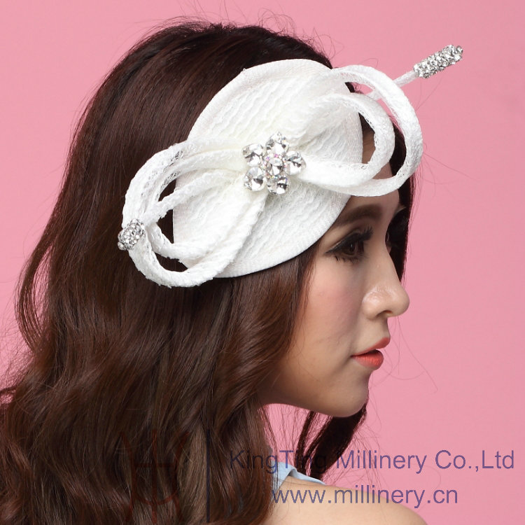 Free Shipping Hot Sale Fashion Women Fascinator Hats Hair Accessories Wedding Hair Accessories Hairdress Flowers Hairbands White<br><br>Aliexpress