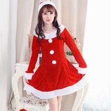 christmas dress women vestido verano 2018 Sexy Santa Costume Fancy Dress  Xmas Office Party Outfit winter dress red e1b6e8c7794f