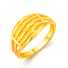 High Quality 24K Gold Color Plated Vacuum Enamel Charms Ring for Man / Women No Fade Delicate Multi Row Punk Rock Jewelry Rings