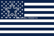 Dallas Cowboys Nation Flag NFL Football Team 3X5ft Flag With Usa Flag