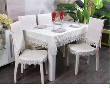 PanlongHome European Minimalist Tablecloth Cloth Table Tablecloth White Tea Table Cloth Jacquard Round Tablecloth