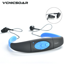 Vchicsoar IPX8 Waterproof 4G/8GB Underwater Sport MP3 Music Player Neckband Headphones Headset with FM Audio for Diving Swimming(China)