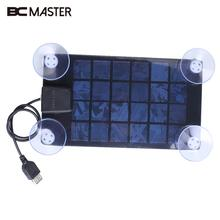 BCMaster Solar Charger Ultra Thin Slim Solar Panel 6V USB 2.0 Camping Traveling Outdoor