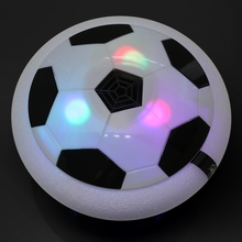 LED Light Flashing Ball Toys Air Power Soccer Disc Kids Gliding Hover Football Game Indoor Outdoor Toy Kids Xmas Gifts Toys(China)