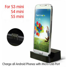Micro USB Desktop Charging Dock Stand Charger For Samsung Galaxy S3 mini S4 mini S5 mini +Micro USB Charger Cable(China)
