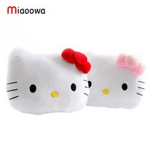 High Quality Lovely Hello Kitty Pillow Soft Hand Warmer Warm Stuffed Plush Hello Kitty Cushion 2 Designs 2 Colors Winter Gifts