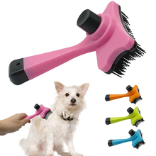 Self Clean Dog Brush Puppy Hair Fur Grooming Shedding Comb Tool For Long & Short Hair Dogs and  Cats  4 Colors Avaliable
