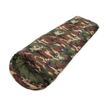 Autumn Winter Camouflage Army Sleeping Bag Outdoors Camping Equipment Envelope Type Zipper Adult Cotton Sleep Bags(China)