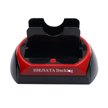 "kebidu 1pcs Hot Newest HDD Docking Station, HDD Docking, Dual 3.5""/2.5"" IDE/SATA HDD dock / Docking station - SD HUB(China)"