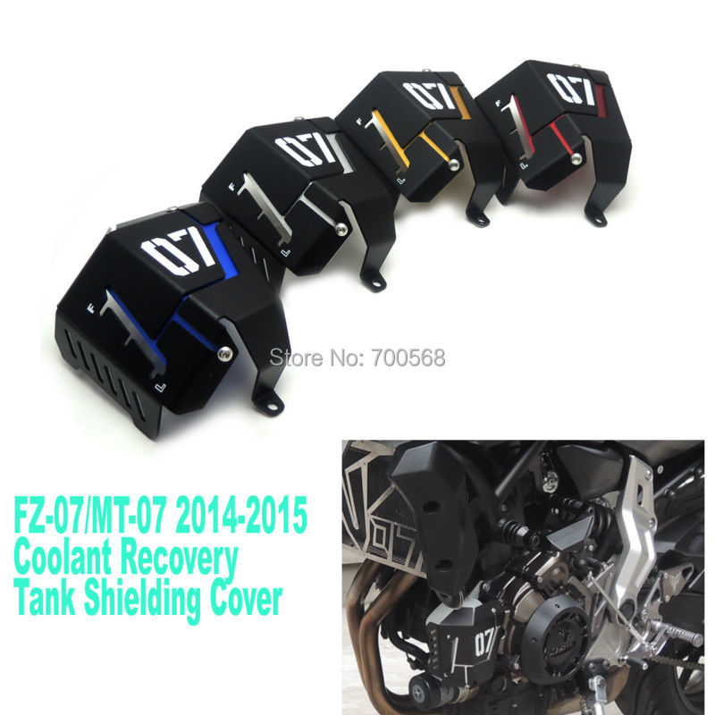 Free Shipping Coolant Recovery Tank Shielding Cover For Yamaha MT-07 FZ-07 MT FZ 07 MT07 FZ07 2014 2015 100% Brand New<br><br>Aliexpress