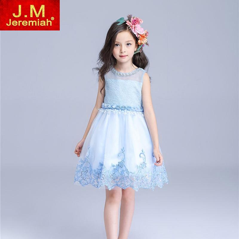 JEREMIAH Top Value Kids Girls Wedding Dress Satin Flower Girl Dress With Sequins Bows Hand Beading for Baby Girls Princess Dress<br><br>Aliexpress