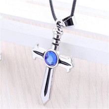 Fairy Tail EARTH LAND Guild Figure Natsu Cross Sword Pendant Necklace Cosplay