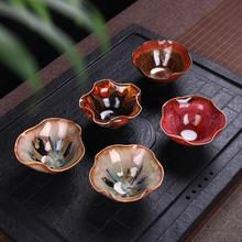 Building ceramic kiln tea light cup petals variable glaze kung fu tea cups(China)
