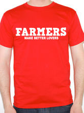 Work Shirts Gildan Men'S Online Store Farmers Make Better Lovers Crew Neck Short-Sleeve Tall T Shirt(China)