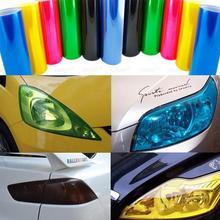 1Pcs Vinyl Three Layers 30cmX 100cm Motorcycle Auto Car Light Headlight Taillight Tinting Film Adhesive Film Sticker(China)