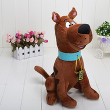 1piece 13'' High Quality Soft Plush Cute Scooby Doo Dog Dolls Stuffed animals Toy(China)