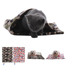 Pets Dog Cat Mats Camouflage Soft Plush Winter Warm Sleep Feeding Pads Fashion Fleece Carpet Dinner Blanket Rug Drop Shipping