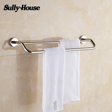 Sully House Stainless Steel Bathroom Double/Single Towel Bars,Towel Rail,60cm Towel Rack,Towel Holder,Bathroom Accessories(China)