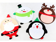 4PCS Christmas decoration cartoon computer mouse pad Christmas present Internet cafes festival decorations creative gift FD42