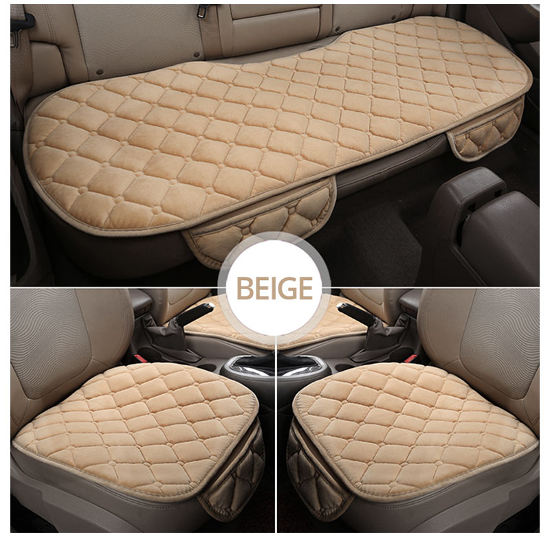 For KIA RIO Cerato Sportage QL Car Seat Cover Universal Auto Winter Soft Warm Seats Cushion Cars Chair Covers Protector General (11)