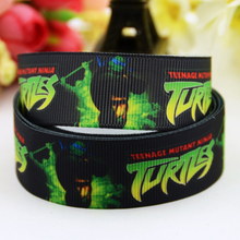 7/8'' (22mm) Teenage Mutant Ninja Turtles Cartoon Character printed Grosgrain Ribbon party decoration OEM 10 Yards X-00823(China)
