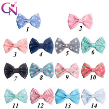 New Fashion Handmade Boutique Print Fabric Hair Bow For Girls Kids Cute Hairgrips Hair Accessories With Clip