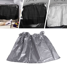 4 Pieces Rear Side Window Curtain Car Sun Block Curtains Motorized Vehicle Suction Cup Car Blackout Shades(China)