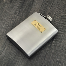 Handwriting Personalized Flask Stainless Steel Flask for Wedding Best Men Father Gift Groomsmen gif(China)