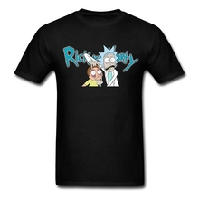 Men Rick and Morty t-shirt rock music Artwork Organic Cotton Tops with Cool Good Selection t shirts for teenage(China)