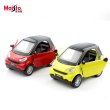 1:32 scale smart fortwo kid's diecast auto motor pull back miniature metal models race cars durable play gifts for boy toys 2017