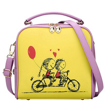 Summers Cartoon Candy Color Women Bag School Bicycle Girls Shoulder Bags Cute Small Messenger Bags Gifts For Children(China)
