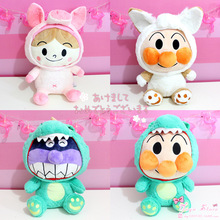 Animated cartoon Anpanman Bread Superman Bacteria transformation fox pig Plush toy Cute  Decoration For Child Gift 40CM