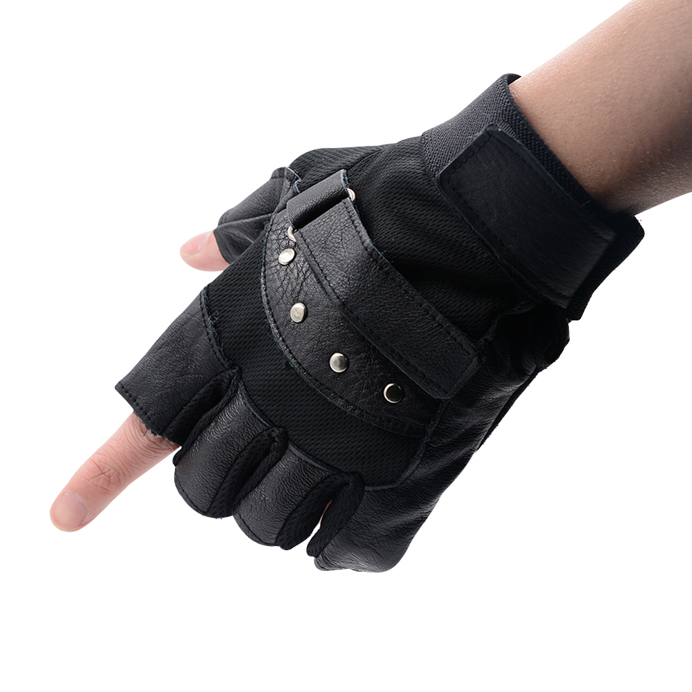 Fingerless gloves climbing - 2017 Tactical Gloves For Men Fingerless Army Gloves Climbing Bicycle Antiskid Fitness Sports Workout Gym Training