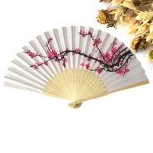 High Quality 1PC Japanese Cherry Blossom Folding Hand Dancing Wedding Party Decor Fan