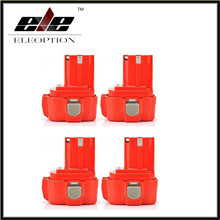 4 pcs 9.6V 2000mAh Rechargeable Battery Pack Power Tool Battery Cordless Drill for Makita 9120 9122 PA09 6207D Ni-CD Bateria