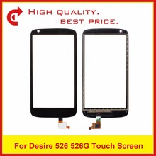"High Quality 4.7"" For HTC Desire 526 526G Digitizer Touch Panel Screen Sensor Outer Glass Lens Black Tracking Code+Free Shipping(China)"