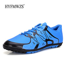 HYFMWZS 2018 High Quality Cheap TF Soccer Shoes Men Soccer Cleats Superfly Indoor Shoes Kids Football Shoes Big Size 3.5-9
