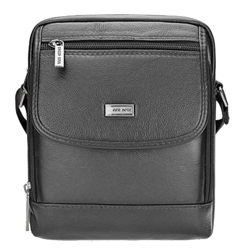 Men fashion Real Genuine Cowhide Leather Business Casual Crossbody Messenger Shoulder Bag Cigarette Case Phone Bags wallet <br>