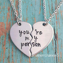 Fashion Style Grey's Anatomy couple love You're My Person Heart Pendant Necklace for Women Girls Gift