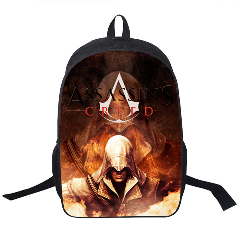 Assassins Creed Backpack For Teenagers Children School Bags Boys Assassins Creed School Backpacks Men Daily Bag Women Backpack<br><br>Aliexpress