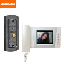 "4.3"" Telephone Monitor Video Door Phone Doorbell System Video Intercom IR Night Vision pinhole Camera Video Doorphone kit"