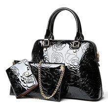 Shoulder Bags Crossbody Brand New Fashion Patent Leather Women Bag Handbag Messager Luxury Ladies Black Tote Famous