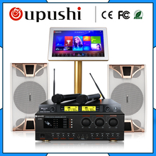"Family Karaoke Party ktv player system 4 TB HD + 10 inch speaker + 19 "" touch screen w / song + power amplifier free shipping(China)"